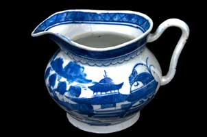 Chinese export porcelain Canton pitcher