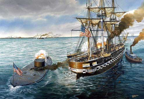USS Monitor takes leave of the Minnesota