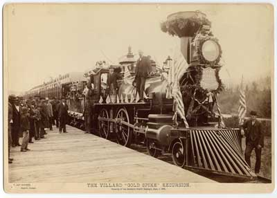 "Opening of the Villard ""Gold Spike"" Excursion - Opening of the Villard ""Gold Spike"" Excursion-Northern Pacific Railroad, September 5, 1883"
