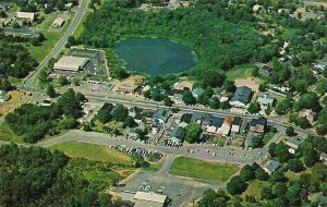 Aerial view of madison, CT, 1970s