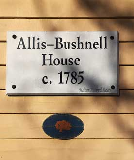 Allis-Bushnell House circa 1785 on the National Register of Historic Places