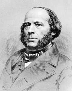 Drawing of Swedish born engineer John Ericsson