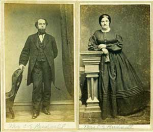 Studio portraits of Cornelius and Emily Bushnell