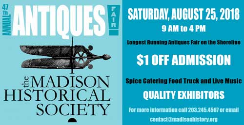 Coupon for $1 off admission to MHS antiques fair 2018