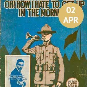 Sheet music for popular WWI song - Oh How I Hate to Wake Up in the Morning