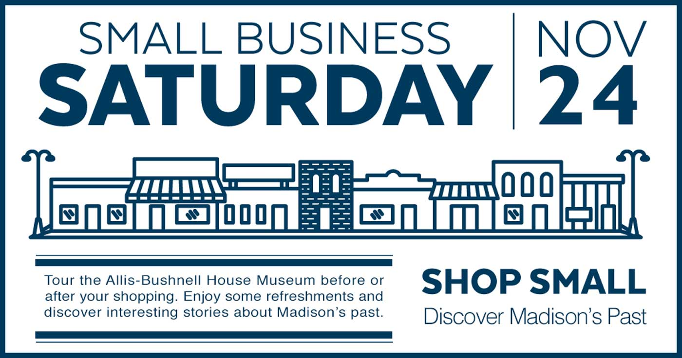 Small business Saturday open house announcement - November 24, 2018