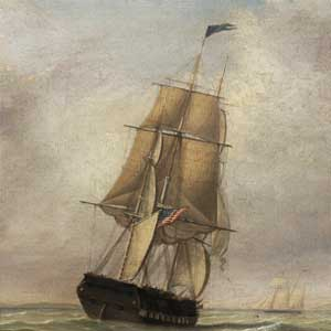 Lane Vose Bishop Frigate oil on canvas