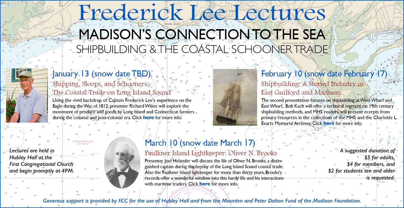 Frederick Lee Lectures - winter lecture series line-up of events.
