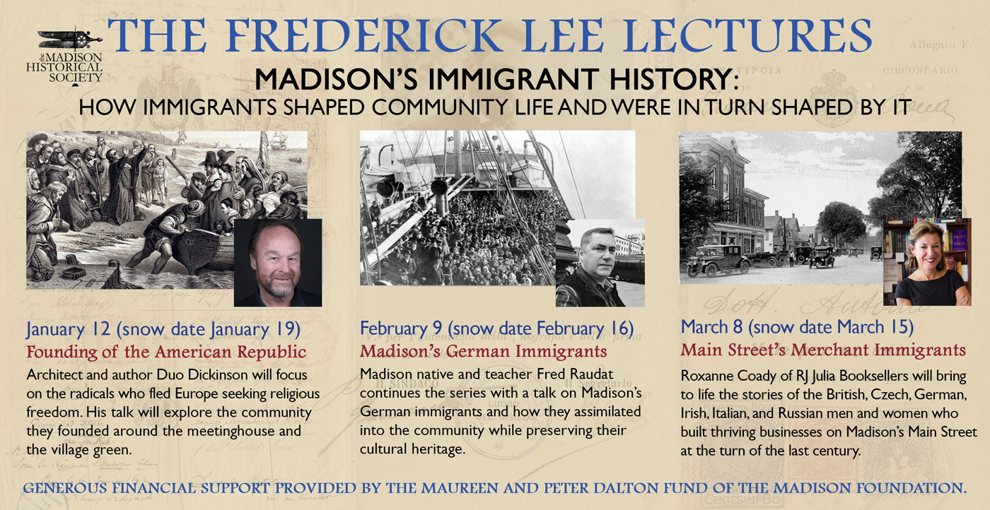 The Frederick Lee Lectures banner announcement - immigration series