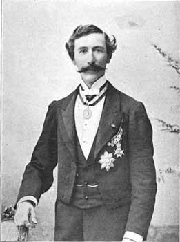 Formal photograph of Gilbert Munger circa 1870
